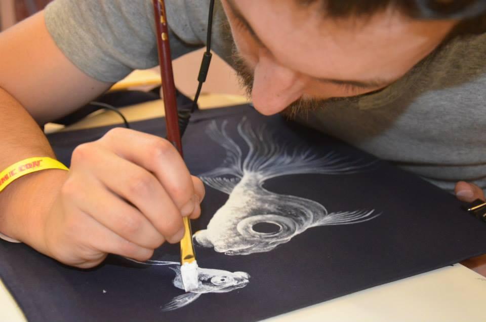 Antoine Bertrand live painting KTA2