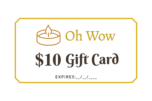 Oh Wow Gift Card