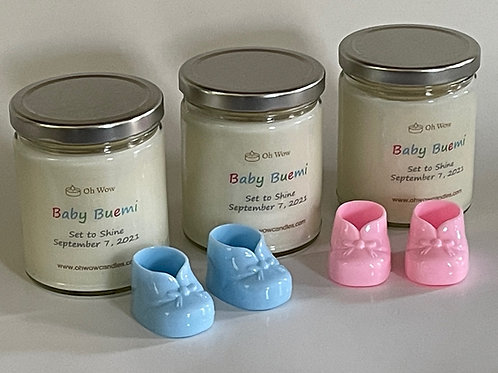 Gender Reveal Candle