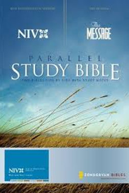 NIV The Message Parallel Study Bible: Updated Numbered Edition