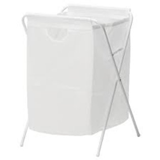 Laundry bag with stand, white