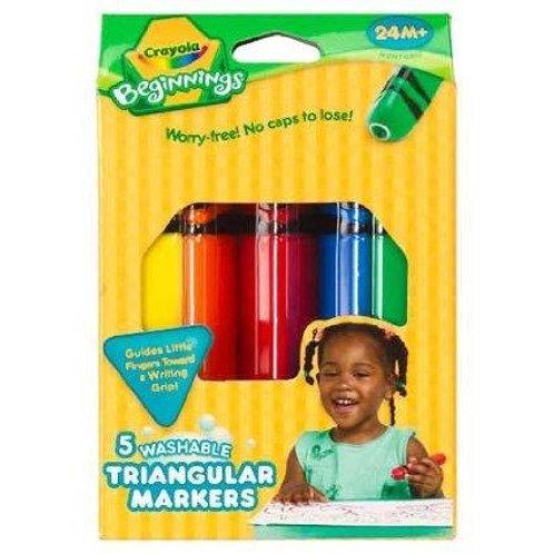 Crayola Beginnings: Washable Triangular Paintbrushes