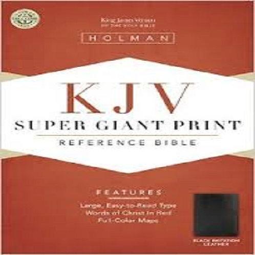 KJV Super Giant Print Reference Bible, Bonded leather