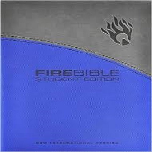 Fire Bible Student Edition: New International Version Gray / Blue