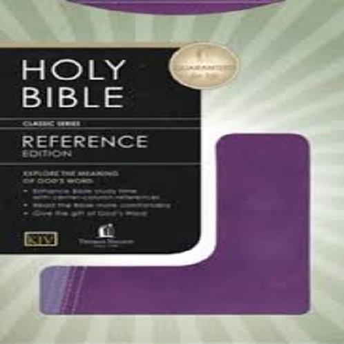 KJV Reference Bible,Bonded leather Purple
