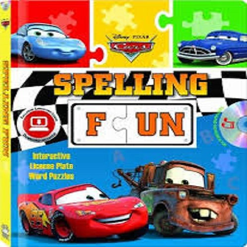 Pixar Cars Spelling Fun - Puzzle book with audio CD