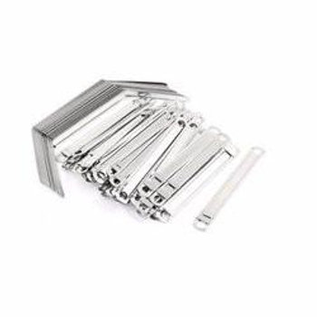 Clips & Clams Paper Fasteners - 50pcs