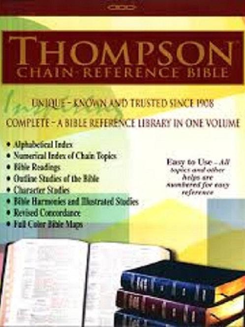 KJV - Black Genuine Leather - Large Print - Thompson Chain Reference Bible