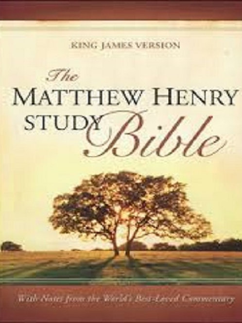 Matthew Henry Study Bible-KJV Imitation Leather