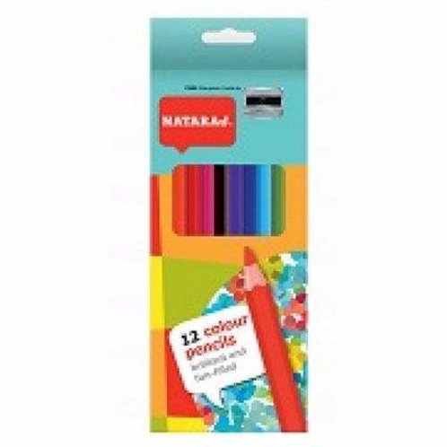 12 Colour Pencil with Sharpner