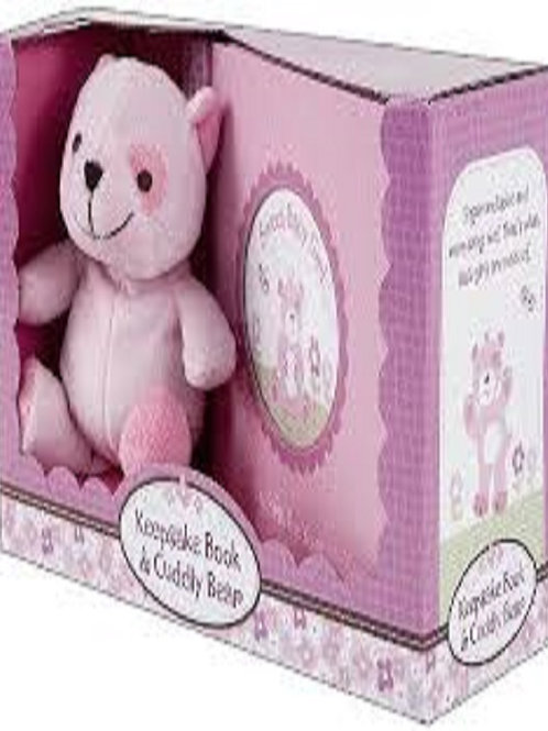 Keepsake Book & Cuddly Bear for Girls by Jenny and Jeff Designs