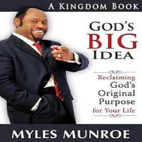 God's Big Idea: Reclaiming God's Original Purpose for Your Life...