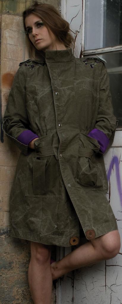 Mantel aus Militärzelt