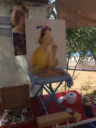 Zeit für Malerei in Pramousquier