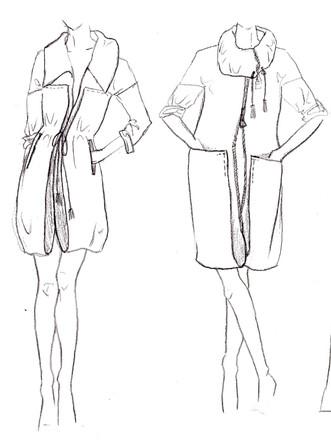 Jacken Skizzen aus Hammamtuch