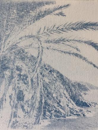 Cinque Terre in Cyanotypie