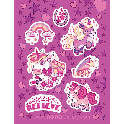 Sticker Sheet - Unicorns