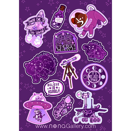 Sticker Sheet Large - Space
