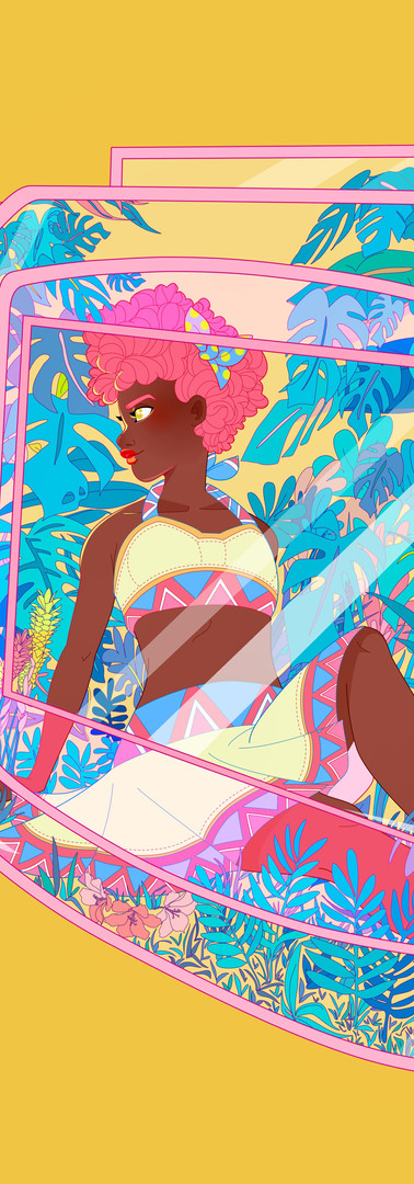 Tropical Console Illustration