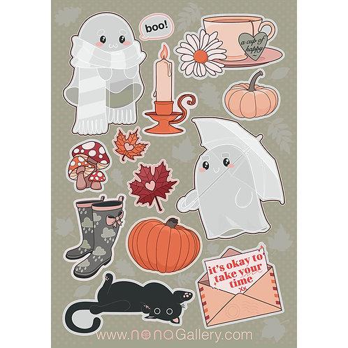 Sticker Sheet Large - Autumn