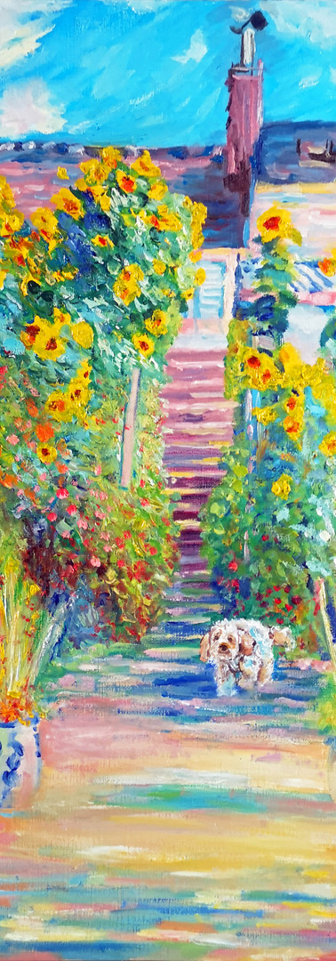 Altered Study Of The Artist's Garden at