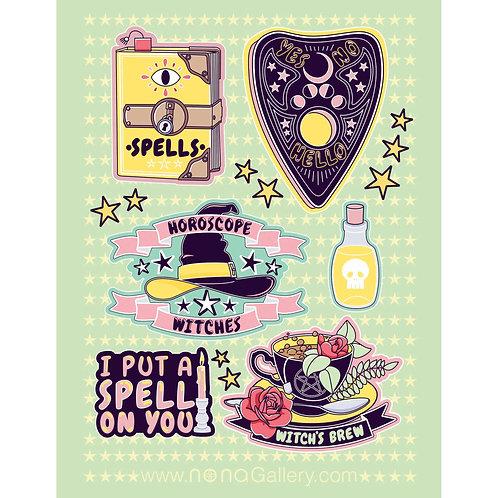 Sticker Sheet - Horoscope Witches