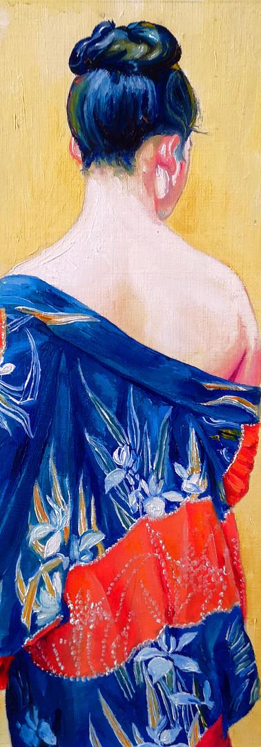 Study Of Kimono With Iris Pattern by Okada Saburosuke