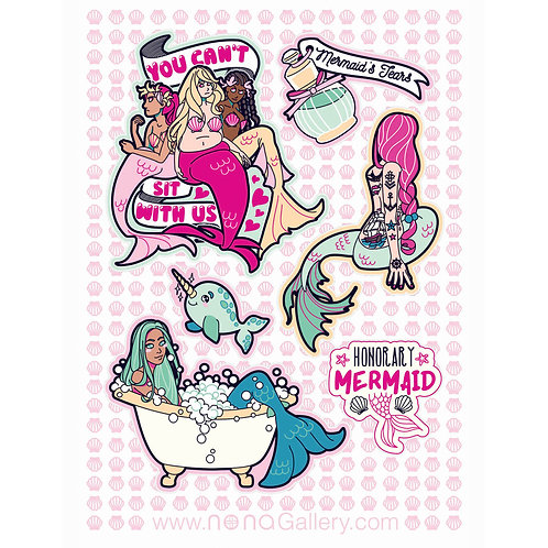 Sticker Sheet - Mermaids