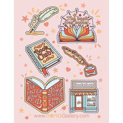 Sticker Sheet - Book Lover