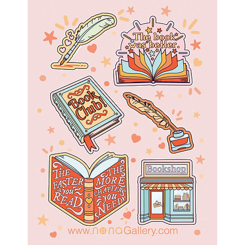 Sticker Sheet - Book Lover