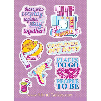Sticker Sheet - Cosplay