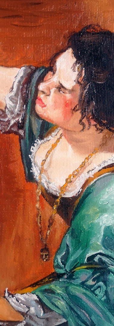 Altered Study Of Self-Portrait as the Allegory of Painting by Artemisia Gentileschi