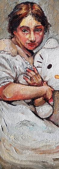 An Altered Study Of Portrait Of A Girl by Wacław Szymanowski