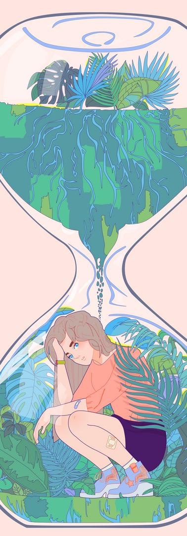 Hourglass Illustration
