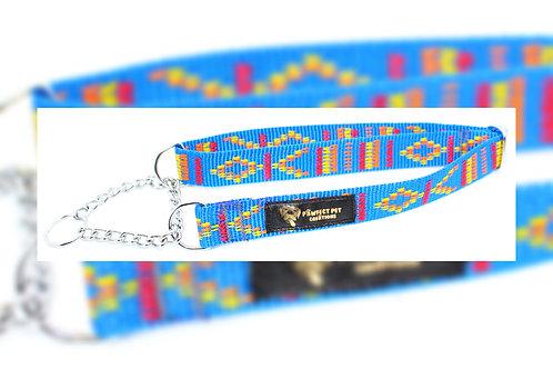 25mm Blue Indian Motif Martingale Collar