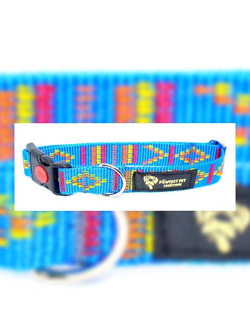 Indian Motif Blue 25mm Collar