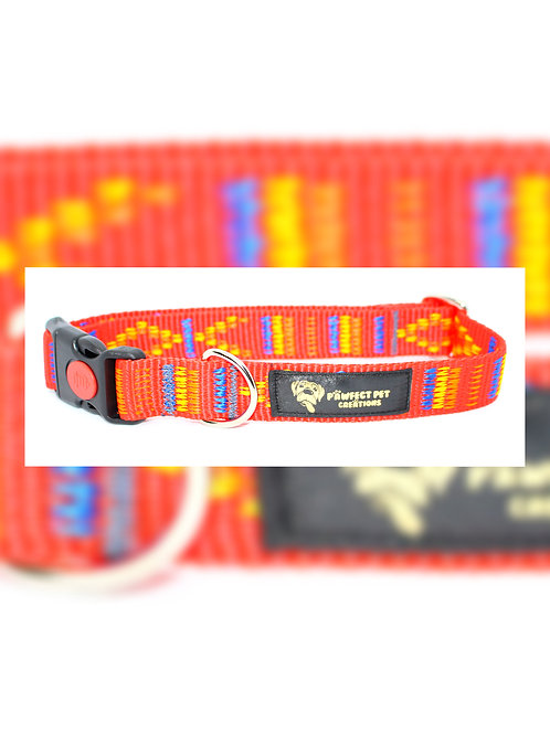 Indian Motif Red 25mm Collar
