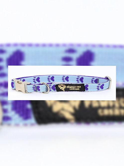 Purple Paws 15mm Collar