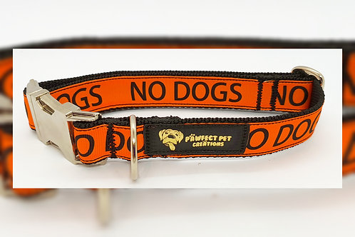 'No Dogs' 25mm Collar