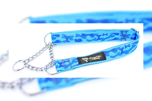 Blue Camo 25mm Martingale Collar