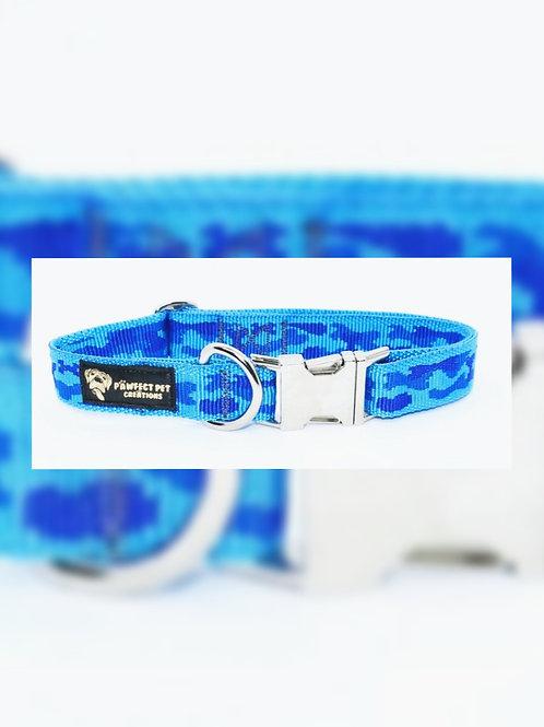 Blue Camo 25mm Collar