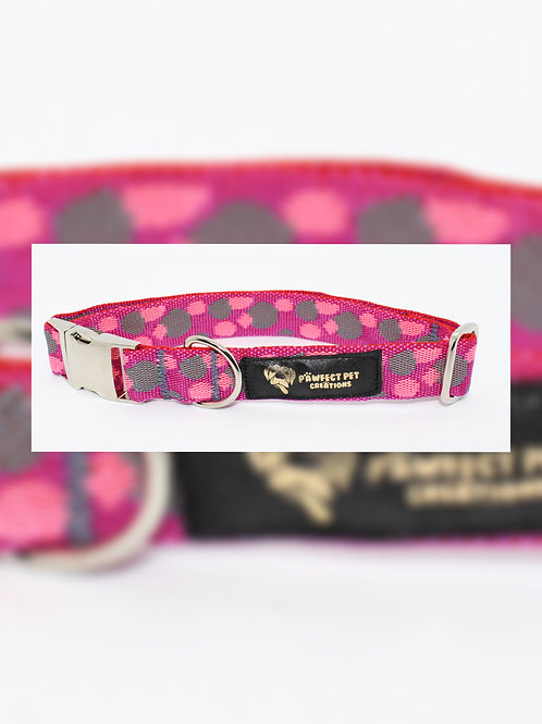 Lots O Dots Pink 25mm Collar