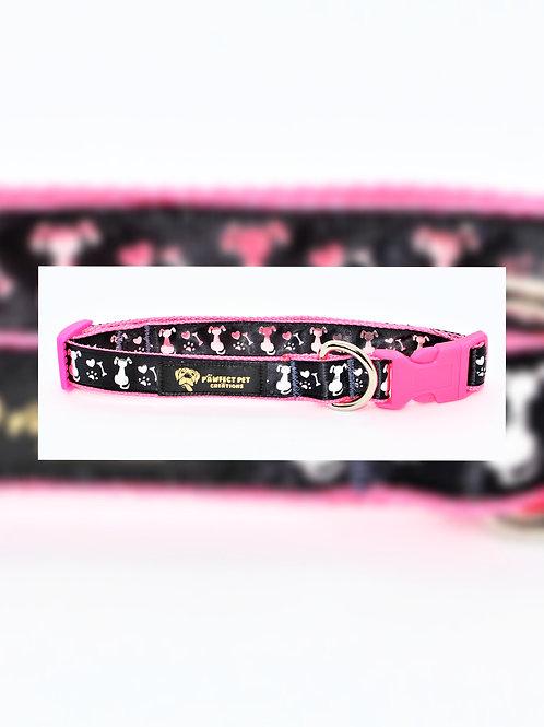 I Love My Doggo Pink 25mm Collar