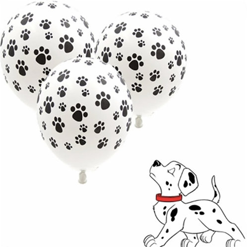 Mixed Paw Print and Colour Balloons x 14