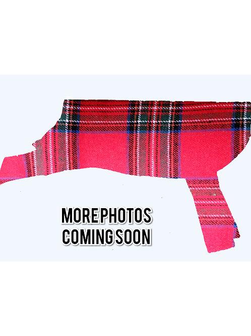 "Flannelette ""Red Plaid"" Dog Jacket"