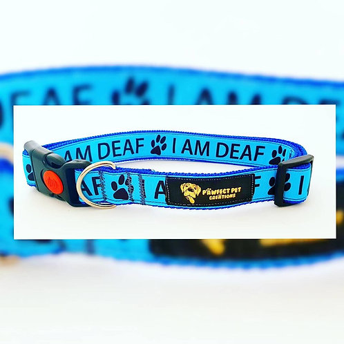 I AM DEAF 25mm Collar