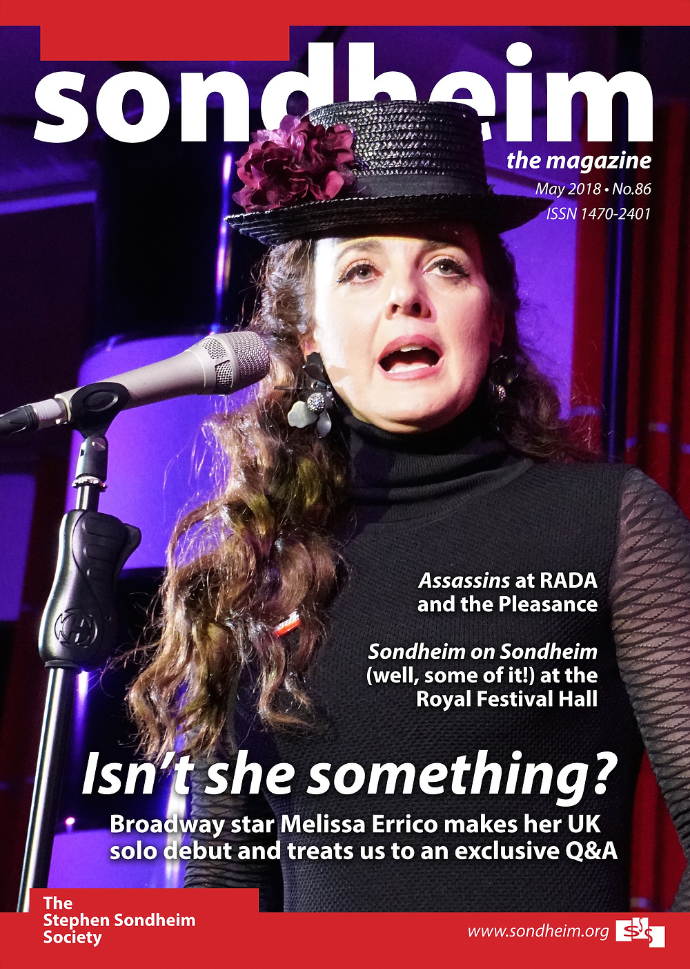 Melissa's Q&A with the Society is the cover story for the May 2018 edition