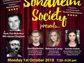 Let us entertain you! Gemma Sutton headlines our October cabaret