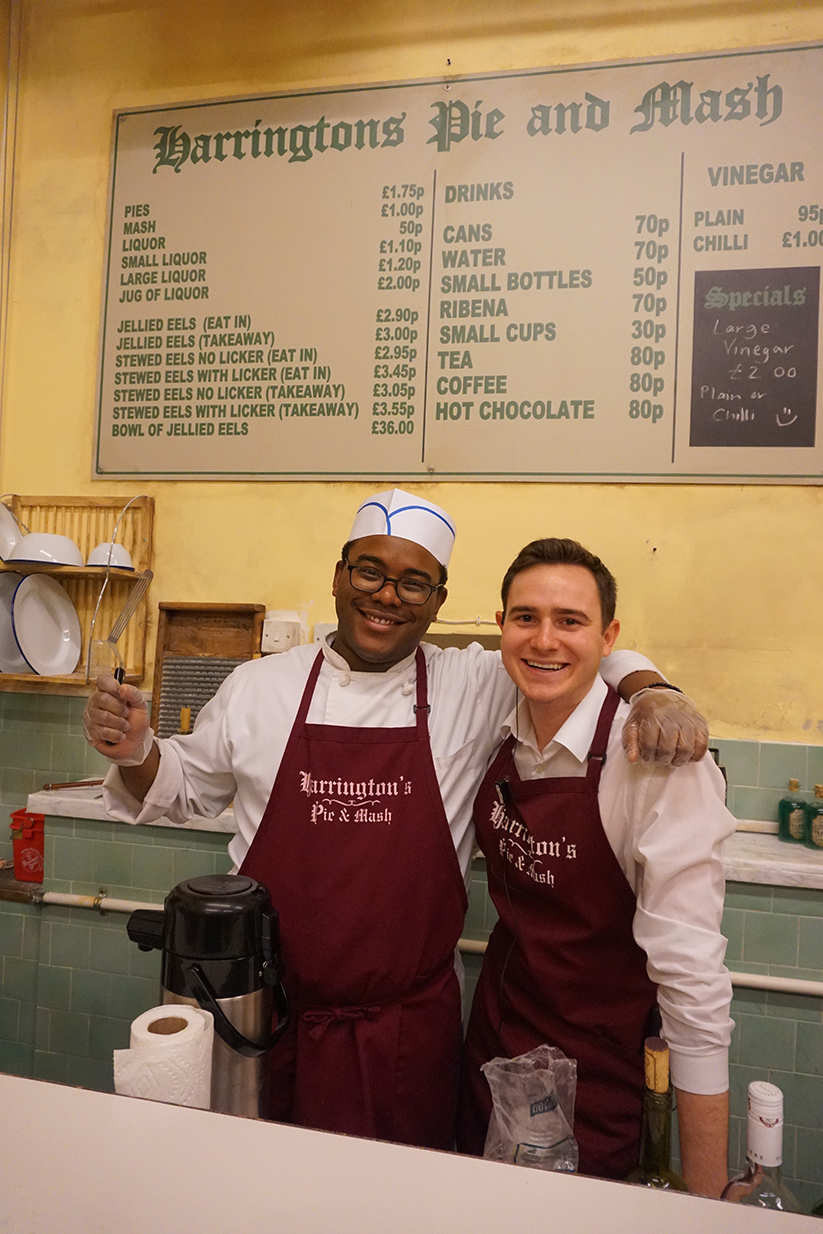 Pie-makers Roberto Welch and Cameron Kubly