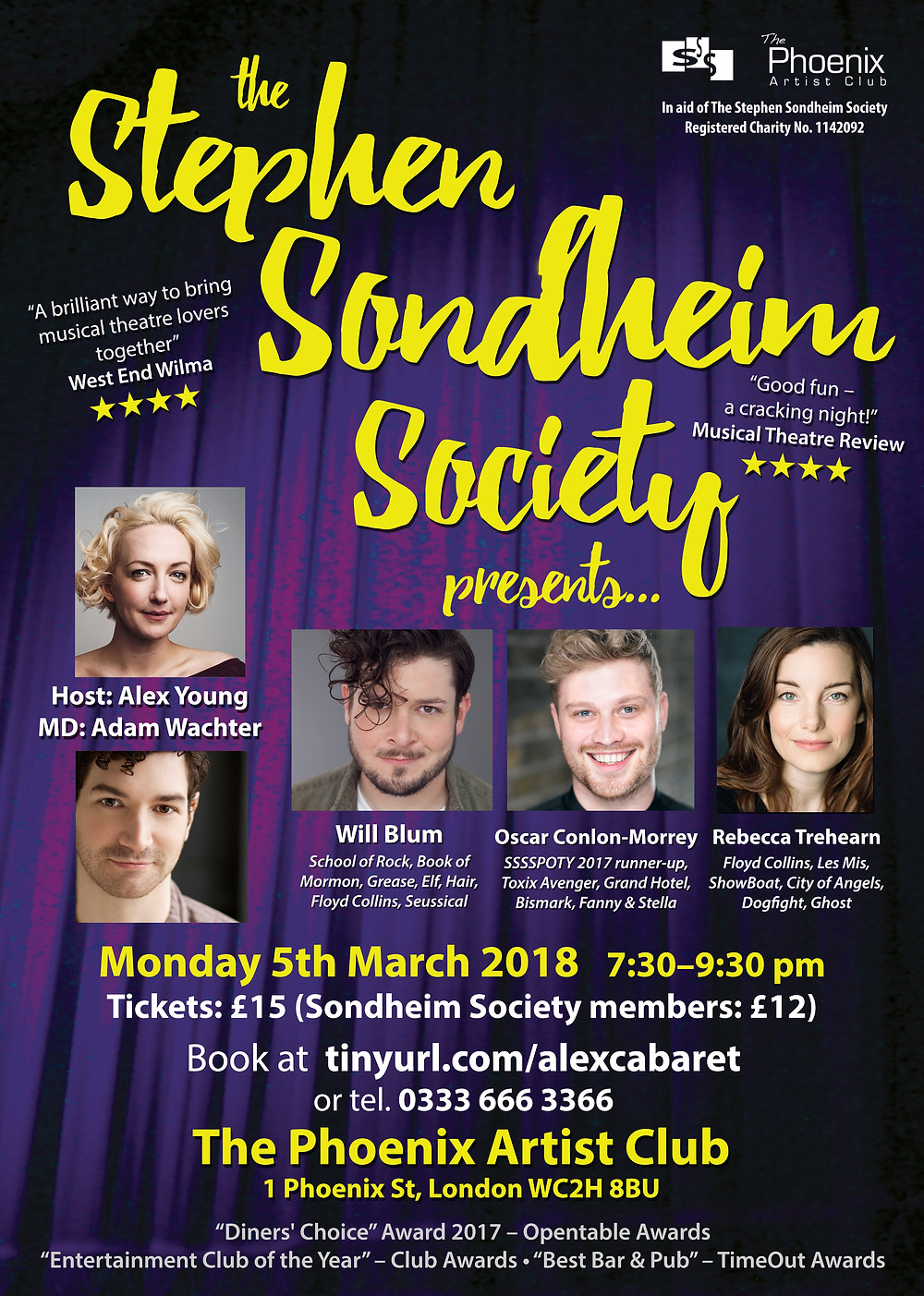 Oscar at The Stephen Sondheim Society Presents... in March 2018